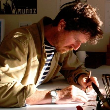 Kristof Šabute u ateljeu